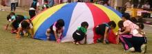自閉症の息子4歳 運動会のバルーンも覚えて出来るようになる