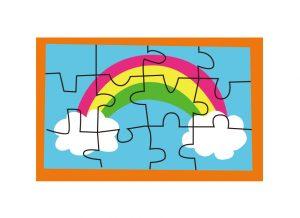 自閉症児の行動特徴「おもちゃを並べる」ことを関わり遊びに発展させよう:パズル
