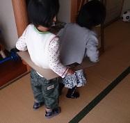 発達障害・自閉症のカンタン家庭療育 妹が大好きでまねっこのお兄ちゃん