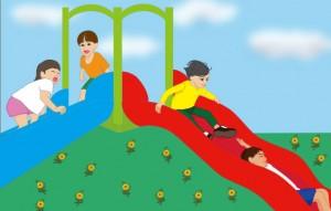 子どもが身体を動かして遊ぶ