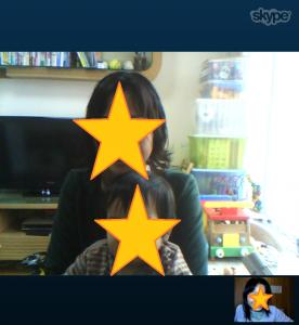 カンタン家庭療育Skype無料相談の様子