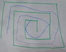 カンタン家庭療育 迷路の練習4