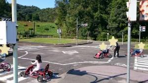 カンタン家庭療育 交通教室と自転車練習場