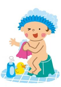 カンタン家庭療育 お風呂で身体を洗う