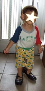 1歳自閉症スペクトラムの息子:ママの靴を履いたよ|澄川綾乃のカンタン家庭療育
