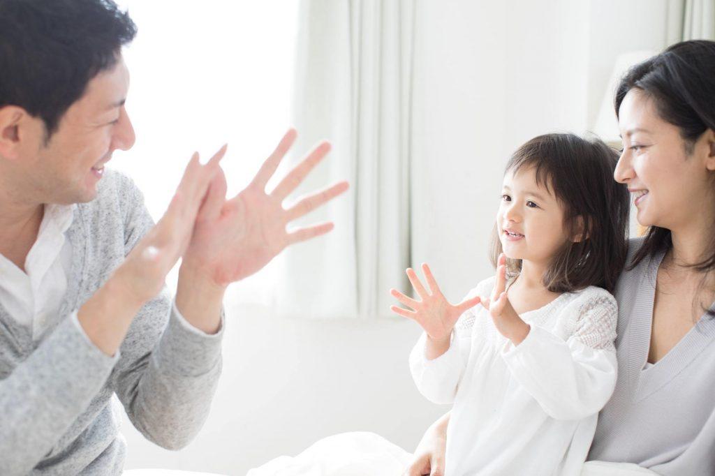 会話を楽しむ親子