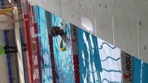 定型発達の娘 スイミングカーニバルの補助具何でも泳法で1位